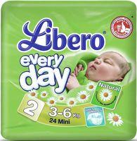 "Подгузники для детей Libero Every day ""Mini 2"" (3-6 кг.; 24 шт)"