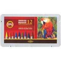 """Акварельные карандаши """"Progresso Aquarell"""" в лаке без дерева (12 цветов)"""