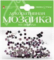 Мозаика декоративная из акрила №13 (4х4 мм; 200 шт.; фиолетовый)
