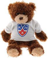 """Мягкая игрушка """"Медвежонок-хоккеист в футболке КХЛ"""" (33 см)"""