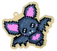 "Алмазная вышивка-мозаика ""Брелок. Летучая мышка"" (96х83 мм)"