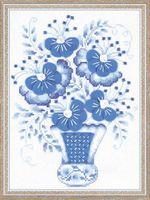 """Вышивка крестом """"Голубой букет"""" (арт. 1366)"""