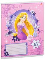 """Тетрадь в клетку """"Princess"""" (18 листов; в ассортименте)"""