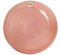 Тарелка керамическая (200 мм; розовая)