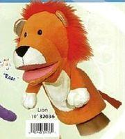 """Мягкая игрушка """"Кукла на руку Лев со звуком"""" (25 см)"""