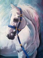"""Алмазная вышивка-мозаика """"Грезы белого коня"""" (300x400 мм)"""