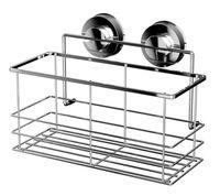 Полка для ванной металлическая на присосках (255х113х208 мм)