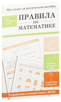 Правила по математике. Наглядно-дидактическое пособие для начальной школы