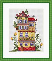 """Вышивка крестом """"Весенний домик"""" (190х140 мм)"""