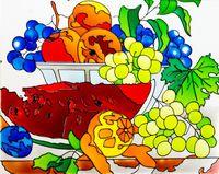 """Набор для росписи по стеклу """"Витражная картина. Натюрморт"""" (400х500 мм)"""
