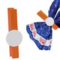 Зажим для сыпучих продуктов (оранжевый с белым)