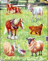 "Пазл-рамка ""Домашние животные"" (34 элемента)"