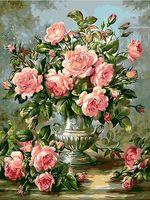 """Картина по номерам """"Букет розовых роз"""" (400х500 мм)"""