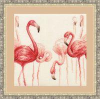 """Вышивка крестом """"Фламинго"""" (290х306 мм; арт. Ф-003)"""