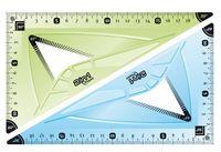Треугольник 2 в 1 (21 см.; 60° + 45°)