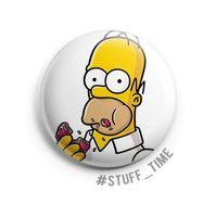 """Значок маленький """"Симпсоны. Гомер"""" (арт. 002)"""