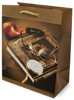 Пакет бумажный подарочный (18x22x10 см; арт. 2125 M)