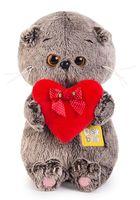 """Мягкая игрушка """"Басик Baby с красным сердечком"""" (20 см)"""