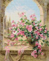 "Алмазная вышивка-мозаика ""Розы на окне"" (400х500 мм)"
