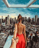 """Картина по номерам """"Иди за мной. Нью-Йорк"""" (400х500 мм)"""