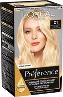 """Краска для волос """"Preference"""" (тон: 01, светло-светло-русый натуральный)"""