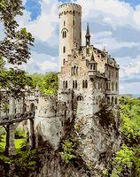 """Картина по номерам """"Замок на скале"""" (400х500 мм)"""