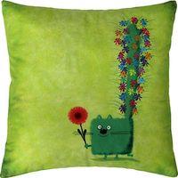 """Подушка """"Зелёный кот"""" (35x35 см; зелёная)"""