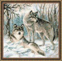 """Вышивка крестом """"Волчья пара"""" (арт. 1393)"""