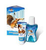 Подарочный набор для ухода за полостью рта детский (зубная паста + ополаскиватель)