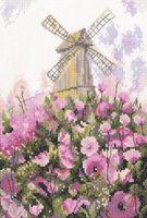 """Вышивка крестом """"Старая мельница"""""""