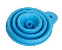 Воронка силиконовая складная (105x145 мм; голубой)