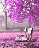"Картина по номерам ""Лиловый сад"" (400х500 мм)"