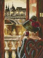"Вышивка крестом ""Комната с видом. Париж"" (170x230 мм)"