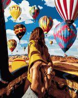 """Картина по номерам """"Следуй за мной. Воздушные шары"""" (400х500 мм)"""