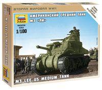"""Сборная модель """"Американский танк M3 """"Ли"""" (масштаб: 1/100)"""