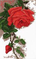 """Вышивка крестом """"Роза"""" (300x190 мм)"""