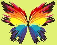 """Картина по номерам """"Бабочка-многоцветница"""" (210х297 мм)"""