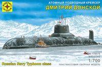 """Атомный подводный крейсер """"Дмитрий Донской"""" (масштаб: 1/700)"""