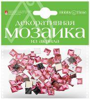 Мозаика декоративная из акрила №22 (8х8 мм; 100 шт.; розовый)