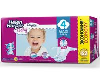 "Подгузники ""Helen Harper Baby Maxi"" (7-18 кг, 62 шт.)"