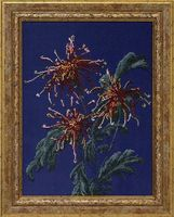 """Вышивка бисером """"Хризантемы в саду"""" (431х316 мм)"""