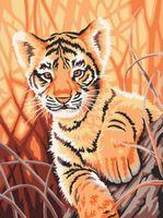 "Картина по номерам ""Тигренок в джунглях"" (400х300 мм)"