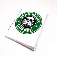 """Блокнот белый """"Звездные войны. Кофе"""" А6 (005)"""