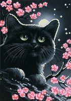 """Канва с нанесенным рисунком """"Лунный кот"""""""