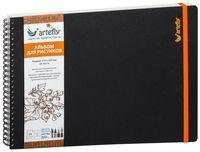 """Альбом для рисунков """"Artefly"""" (210х297 мм; твердая черная обложка)"""