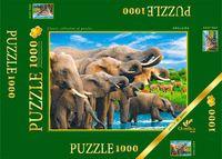 """Пазл """"В мире животных. Слоны на водопое"""" (1000 элементов)"""