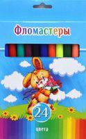 """Фломастеры """"Смешной зайчик"""" в картонной коробке (24 цвета)"""