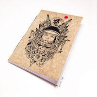 """Блокнот крафт """"Девушка космонавт"""" А7 (арт. 454)"""
