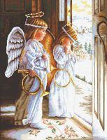 """Вышивка крестом """"Ангелы"""""""