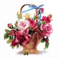 """Набор для вышивания """"Розы в корзине"""""""